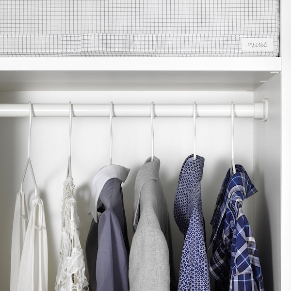 HJÄLPA Clothes rail, white, 60x55 cm