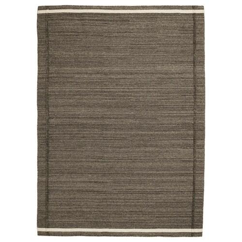 HÖJET rug, flatwoven handmade brown 240 cm 170 cm 7 mm 4.08 m² 2000 g/m²