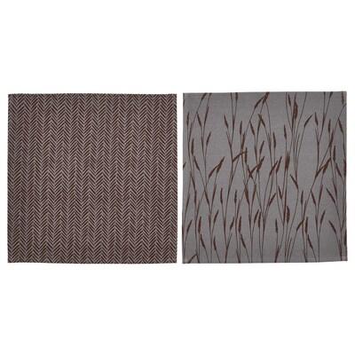 HÖSTKVÄLL Napkin, grey, 40x40 cm