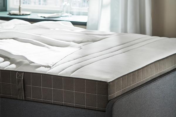 HÖVÅG Pocket sprung mattress, firm/dark grey, 140x200 cm