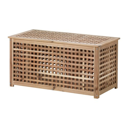HOL Storage table   Solid wood, a durable natural material.  Practical storage space underneath the table top.