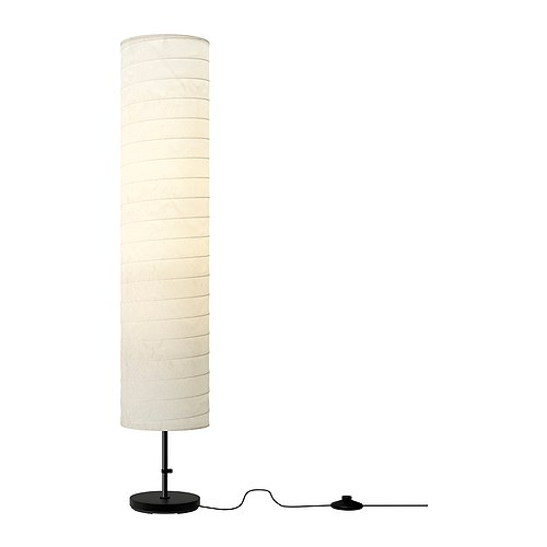HOLMÖ Floor lamp   Gives a soft mood light.
