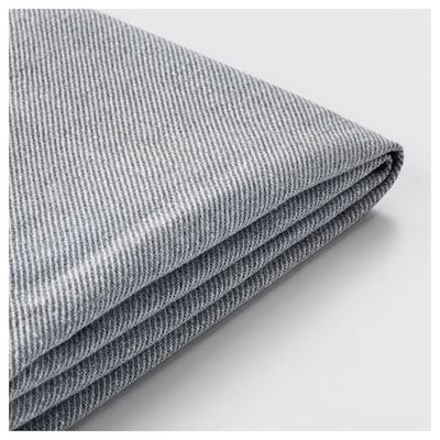 HOLMSUND غطاء لكنبة-سرير ثلاث مقاعد, Nordvalla رمادي معتدل