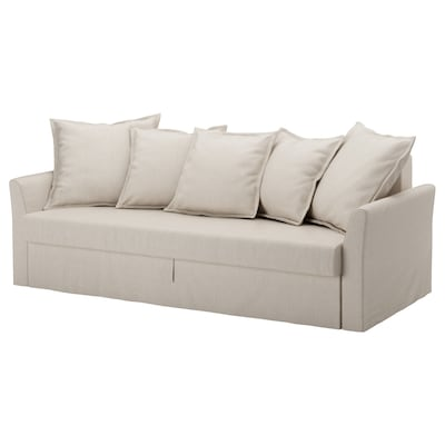 HOLMSUND Three-seat sofa-bed, Nordvalla beige