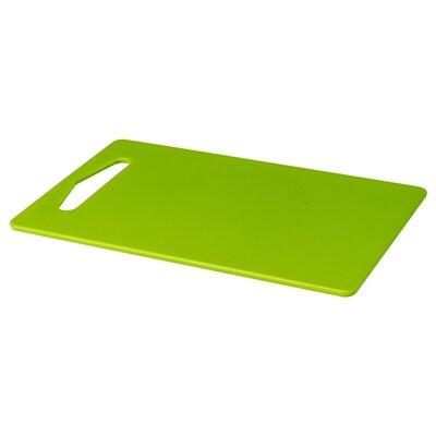HOPPLÖS لوح تقطيع, أخضر, 24x15 سم