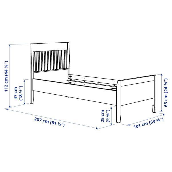 IDANÄS اطار سرير, بني غامق/Luröy, 90x200 سم