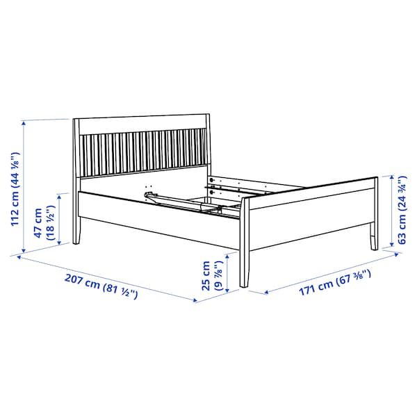 IDANÄS Bed frame, white/Lönset, 160x200 cm