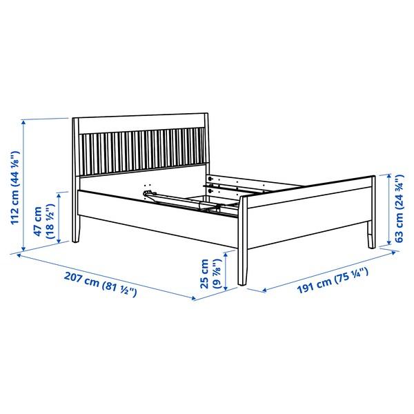 IDANÄS Bed frame, white/Lönset, 180x200 cm