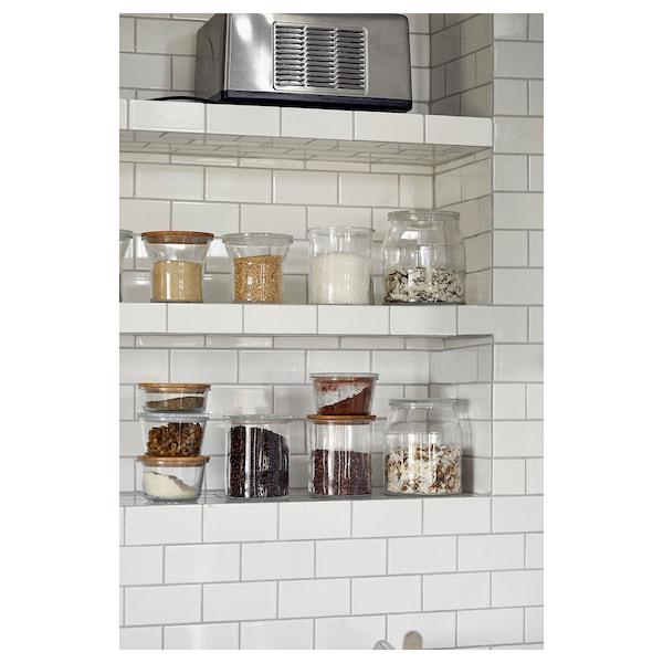 IKEA 365+ مرطبان بغطاء, زجاج/خيزران, 1.0 ل