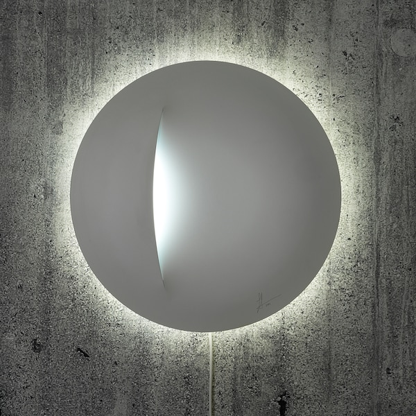IKEA ART EVENT 2021 LED wall lamp, white, 40 cm