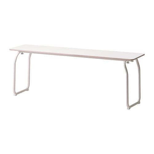 IKEA PS 2014 Bench, in/outdoor   The seat is extra durable for outdoor use since it has a high-pressure laminated surface.