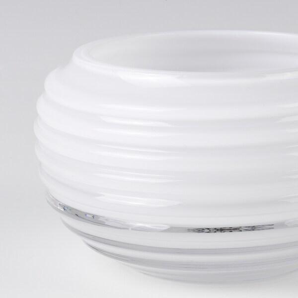 INBJUDEN Tealight holder, glass white, 5 cm