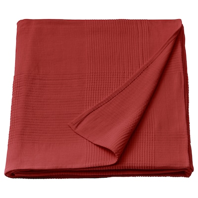 INDIRA Bedspread, red-orange, 230x250 cm