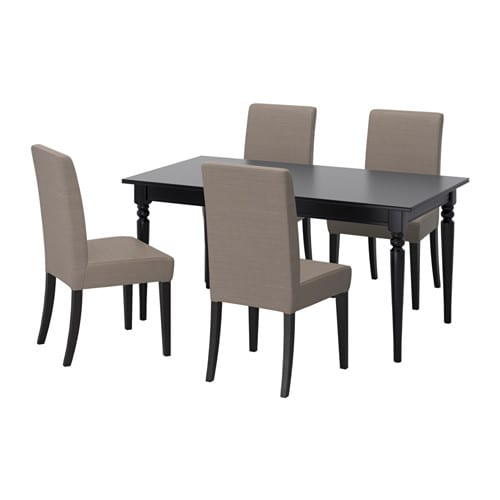 INGATORP / HENRIKSDAL Table And 4 Chairs