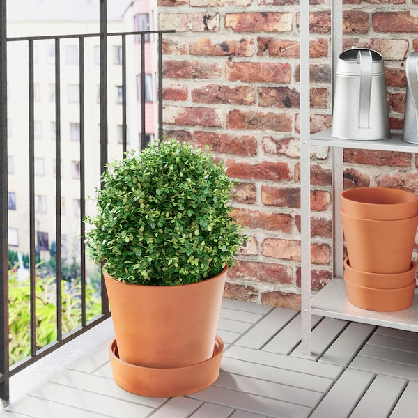 INGEFÄRA آنية نباتات مع صحن