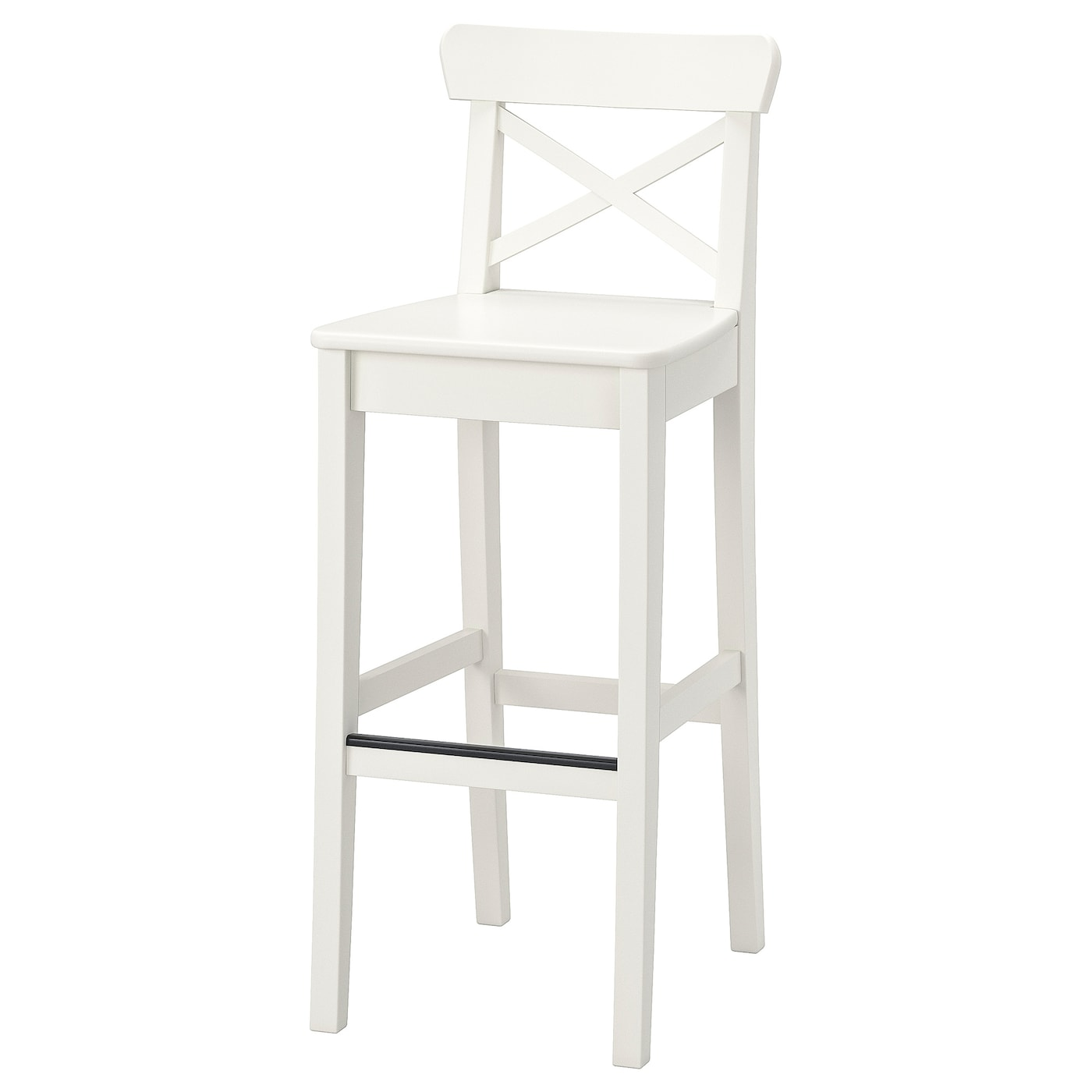 Sensational Bar Stool With Backrest Ingolf White Pabps2019 Chair Design Images Pabps2019Com