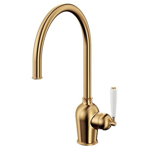 INSJÖN kitchen mixer tap brass-colour 40 cm