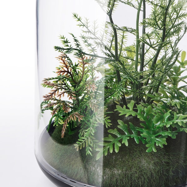 INVÄNDIG artificial terrarium, dome 15 cm 10 cm