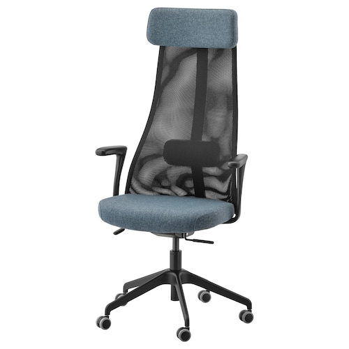 JÄRVFJÄLLET office chair with armrests Gunnared blue/black 110 kg 68 cm 68 cm 140 cm 52 cm 46 cm 45 cm 56 cm