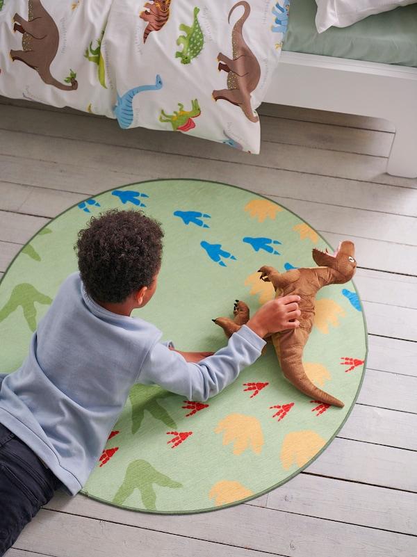 JÄTTELIK Soft toy, dinosaur/dinosaur/velociraptor, 44 cm