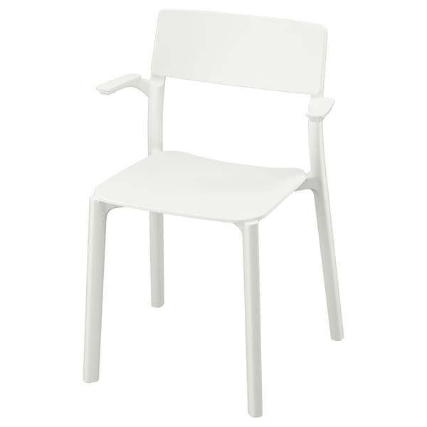 JANINGE كرسي مع مساند للذراعين, أبيض