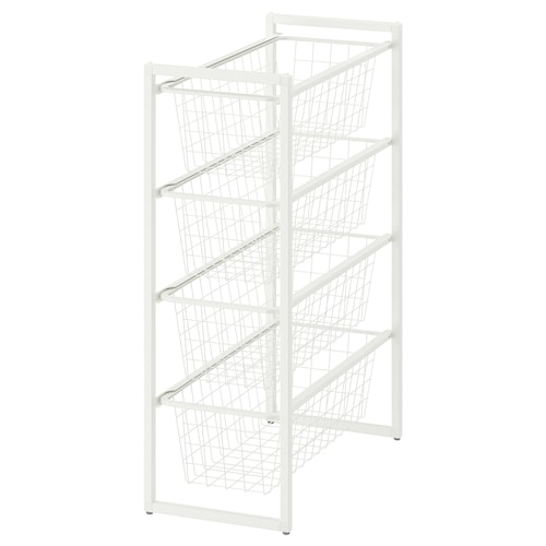 JONAXEL frame with wire baskets 25 cm 51 cm 70 cm