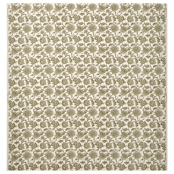 JUNIMAGNOLIA fabric natural/green 230 g/m² 150 cm