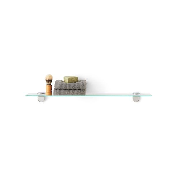 KALKGRUND Glass shelf, 62x11 cm