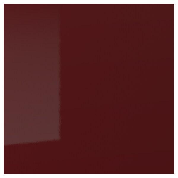 KALLARP Door, high-gloss dark red-brown, 40x40 cm