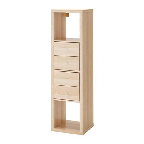 Kallax Shelving Unit With 2 Inserts Ikea