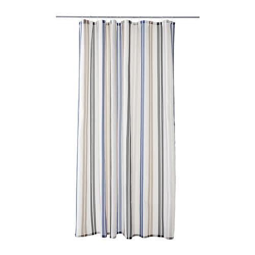 KALVSJÖN Shower curtain   Densely-woven polyester fabric with water-repellent coating.