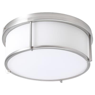 KATTARP Ceiling lamp, glass nickel-plated