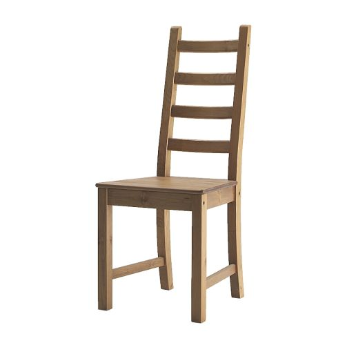 KAUSTBY Chair   Solid pine is a natural material which ages beautifully and gains its own unique character over time.