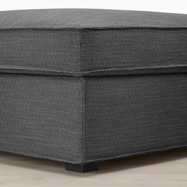 KIVIK Footstool with storage, Hillared anthracite
