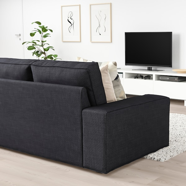 KIVIK Two-seat sofa, Hillared anthracite