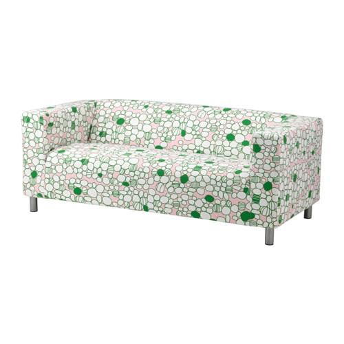 Sofa ikea klippan  KLIPPAN Two-seat sofa, Marrehill pink, green - Marrehill pink ...