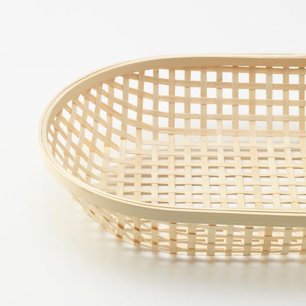 KLYFTA Bread basket, bamboo, 36x22 cm