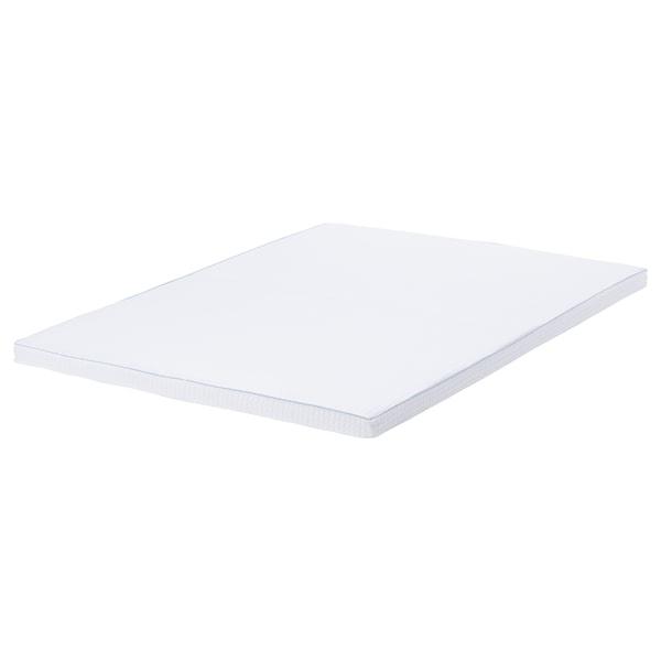 KNAPSTAD Mattress pad, white, 140x200 cm