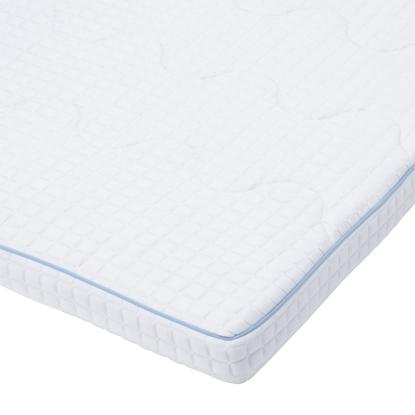 KNAPSTAD Mattress pad, white, 160x200 cm