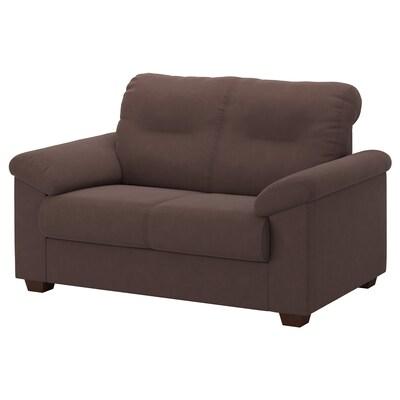 KNISLINGE Two-seat sofa, Samsta dark brown