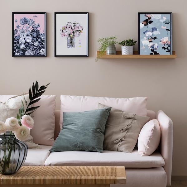 KNOPPÄNG Frame, black, 30x40 cm