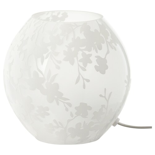 KNUBBIG table lamp cherry-blossoms white 40 W 18 cm 18 cm 2.0 m
