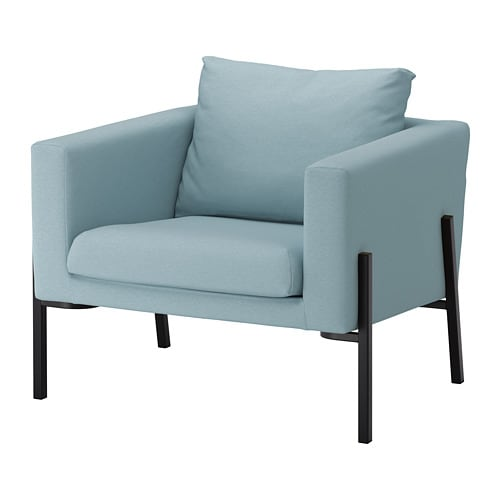 Koarp armchair orrsta light blue black ikea - Fauteuil mellby ikea ...