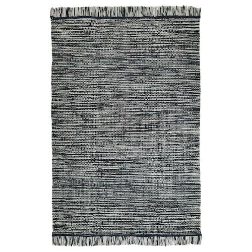 KÖPENHAMN rug, flatwoven handmade dark grey 240 cm 170 cm 3.68 m²