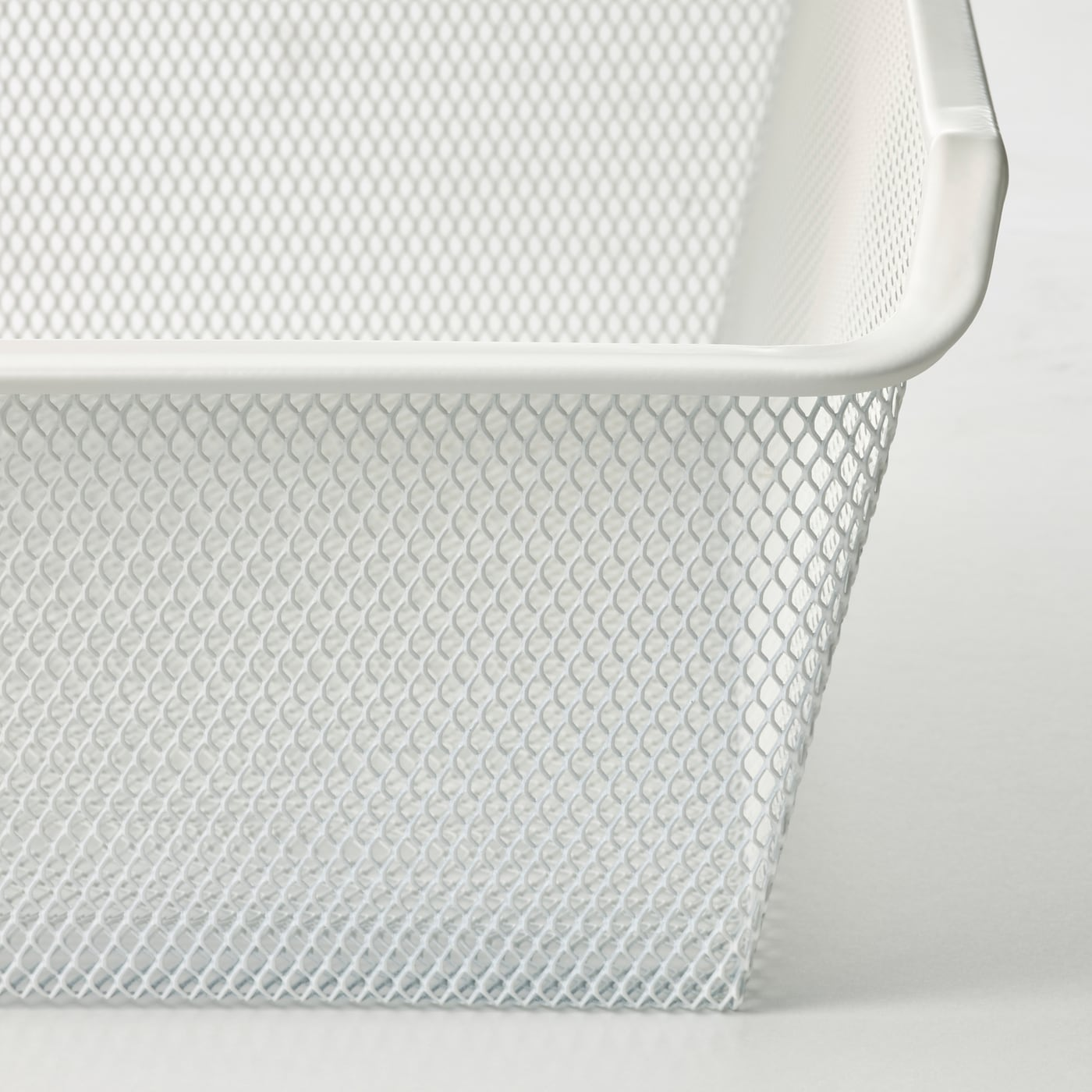 KOMPLEMENT سلة شبكية مع مجرى سحب, أبيض, 50x58 سم