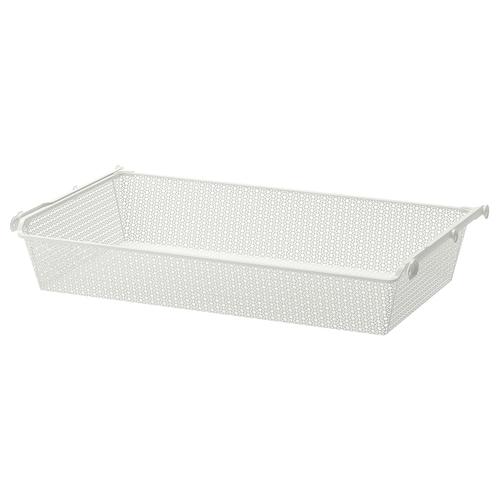 KOMPLEMENT metal basket with pull-out rail white 96.5 cm 100 cm 53.3 cm 16 cm 58 cm 15 kg