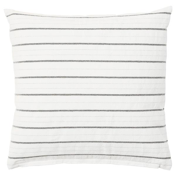 KONSTANSE Cushion, white/dark grey, 40x40 cm