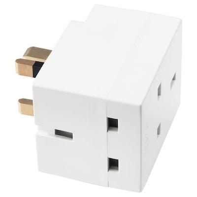 KOPPLA 3-way adaptor plug, white