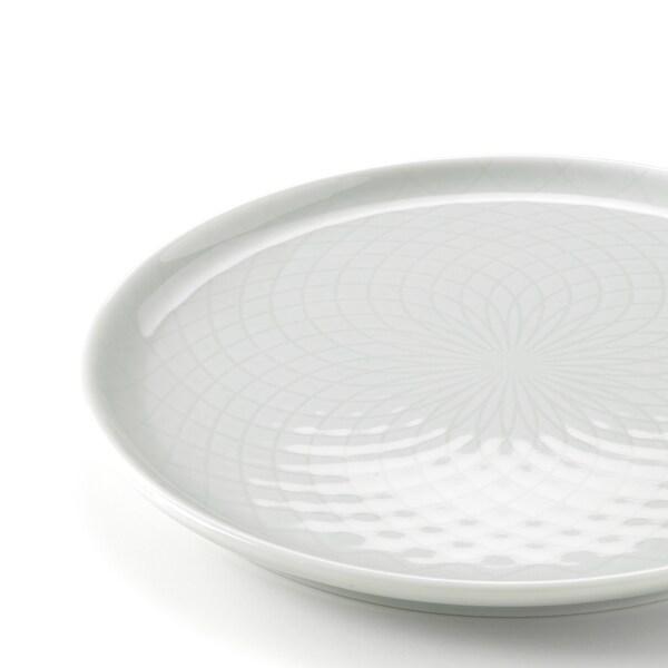 KRUSTAD Side plate, light grey, 16 cm