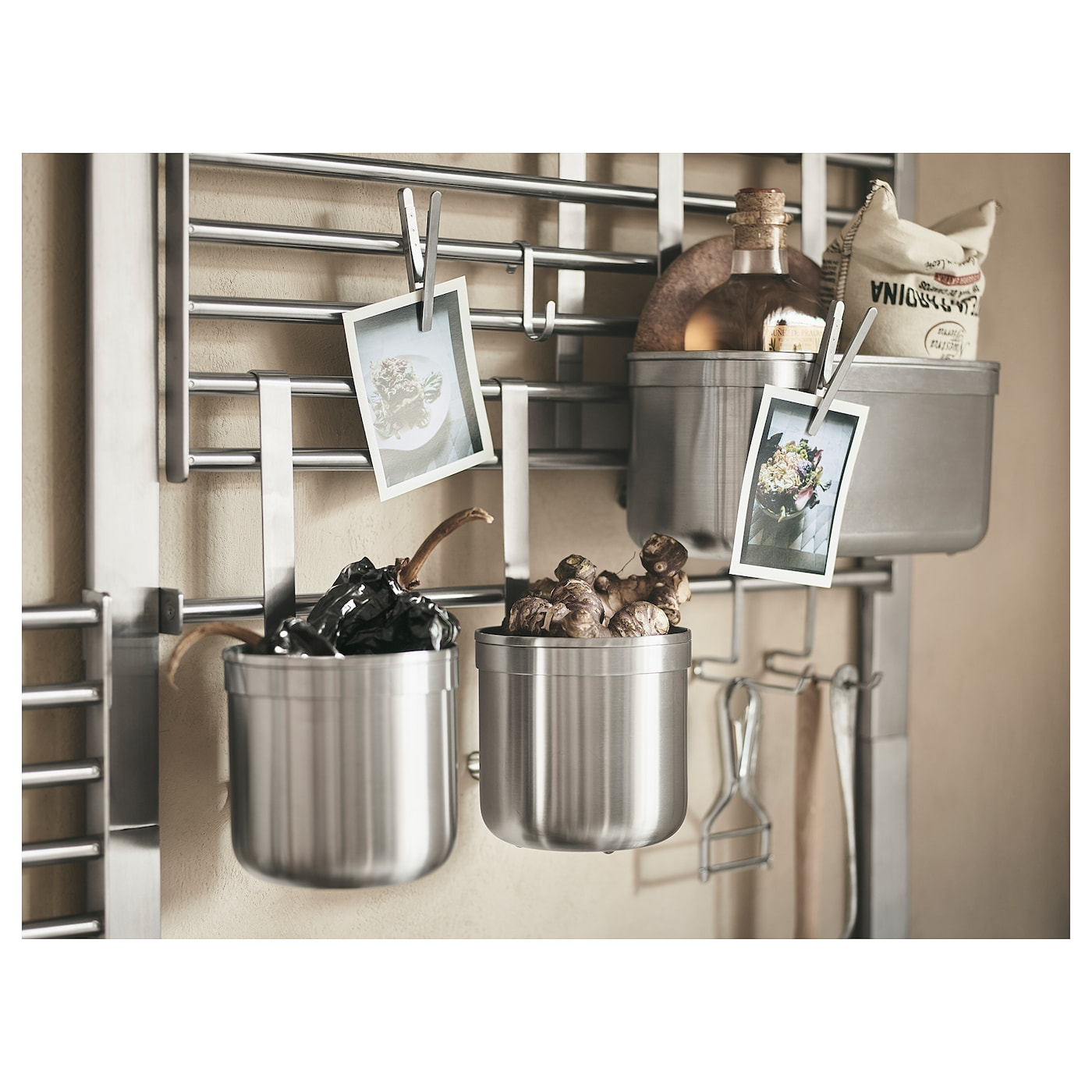 KUNGSFORS Container, stainless steel, 24x12x26.5 cm